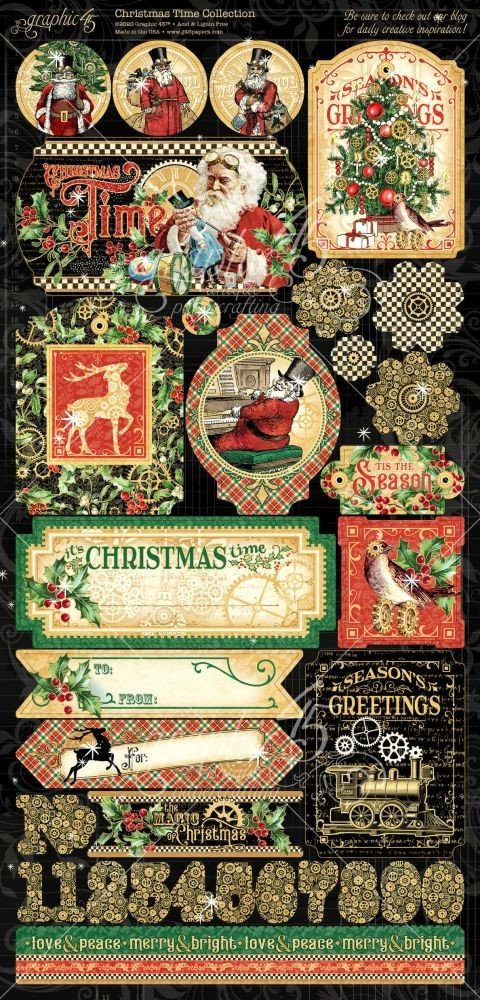 Graphic 45 - Christmas Time Collection Stickers