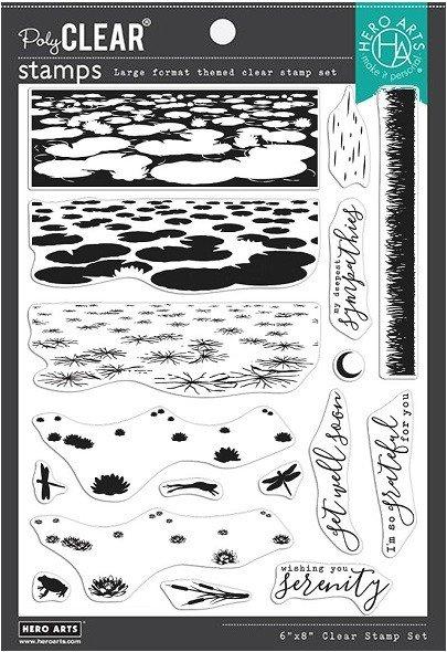 Hero Arts - Lily Pond Heroscape Stamp Set