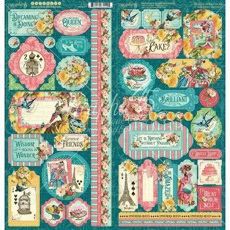 Graphic 45 - Ephemera Queen Stickers
