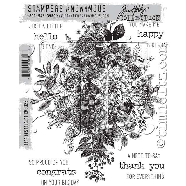 Stampers Anonymous - Tim Holtz Glorious Bouquet