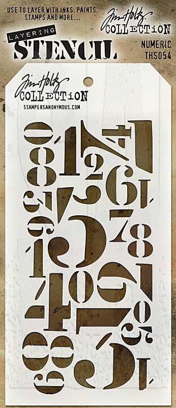 Tim Holtz - Numeric Stencil