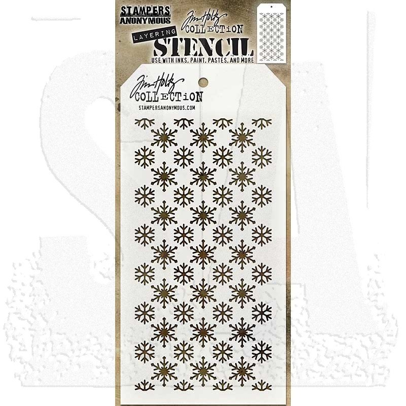 Tim Holtz - Flurries Stencil
