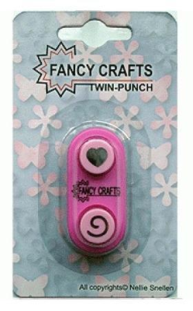 Fancy Crafts - Swirl/Heart Mini Twin Paper Punch