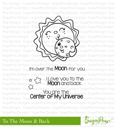 Sugar Pea Designs - Over The Moon Stamp Set