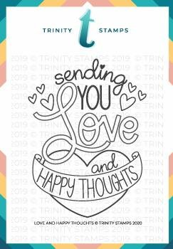 Trinity Stamps - Love & Happy Thoughts Stamp