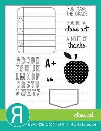 Reverse Confetti - Class Act Stamp Set