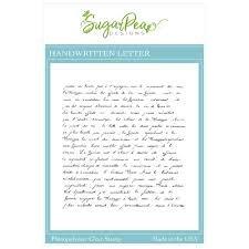 Sugar Pea Designs - Handwritten Letter BG Stamp