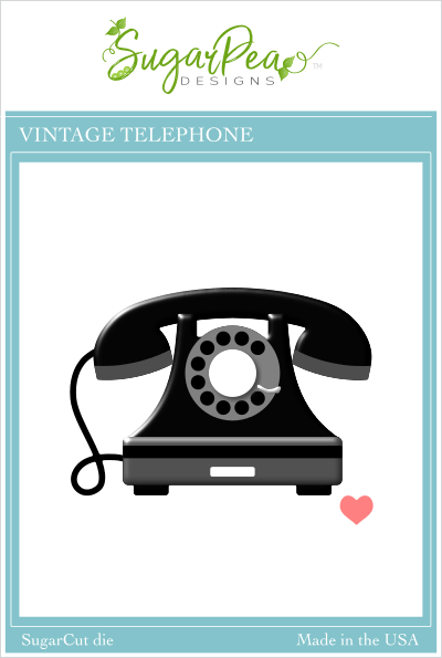 Sugar Pea Designs - Vintage Telephone Die