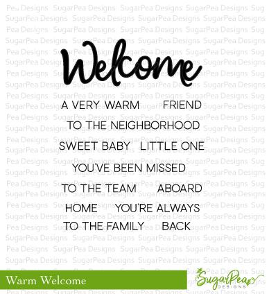 Sugar Pea Designs - Welcome Stamp Set