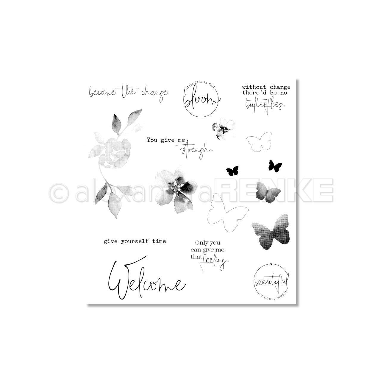 Alexandra Renke - Welcome Butterflies Stamp Set