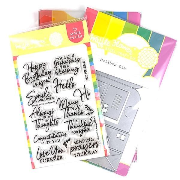 Waffle Flower - Sweet Mailbox Stamp & Die Set