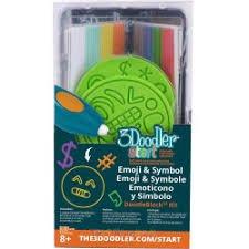 3Doodler Start Essentials Pen With Free 3Doodler Start Emoticon & Symbols DoodleBlock® Kit