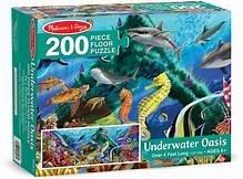 Melissa & Doug Underwater Oasis Jumbo Jigsaw Floor Puzzle - 200 pcs