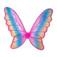 Glitter Rainbow Wings Pink Glit