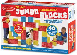 40 PC Jumbo Cardboard Blocks