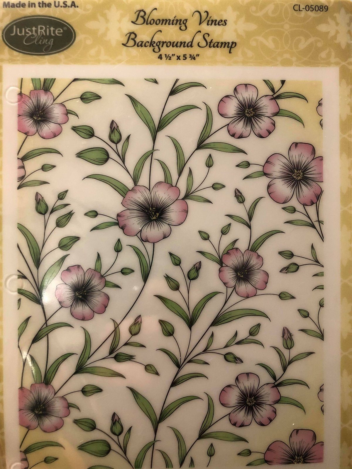 Blooming Vines Background Stamps