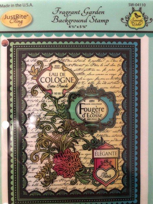 Fragrance Garden Background Stamp