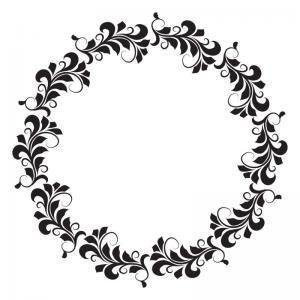 Joggles 6x6 Floral Wreath