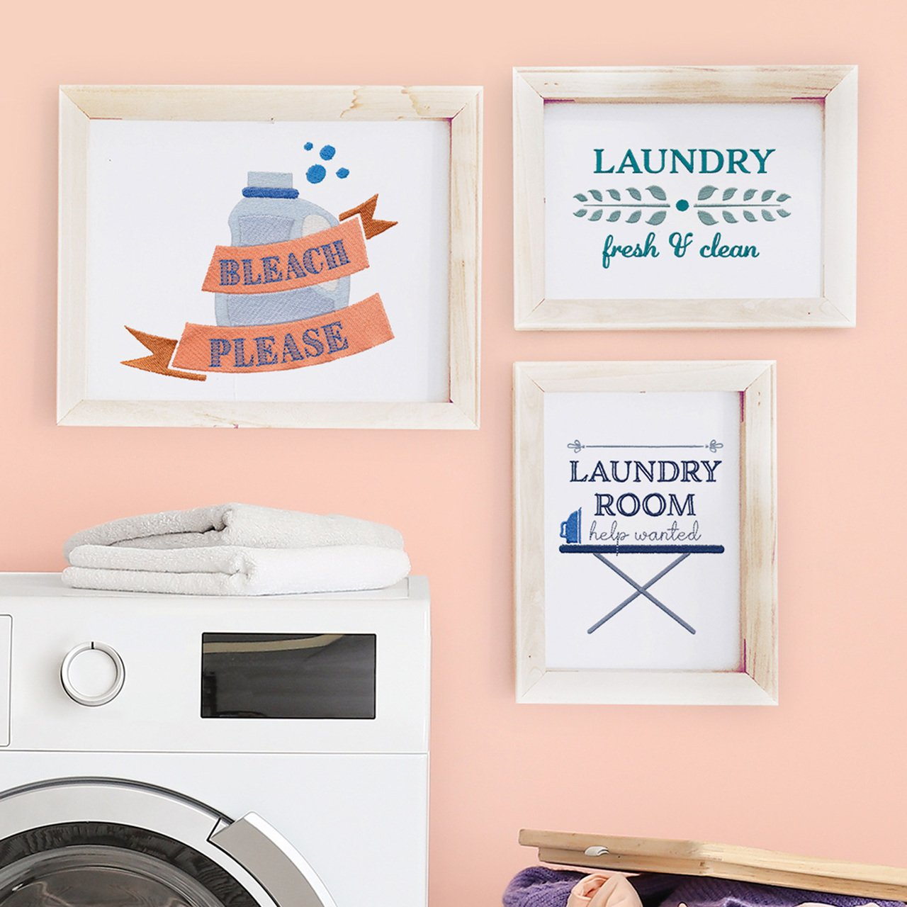 Laundry Day Embroidery Collection