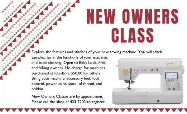 Rae-Bon Sew & Quilt Shop Classes