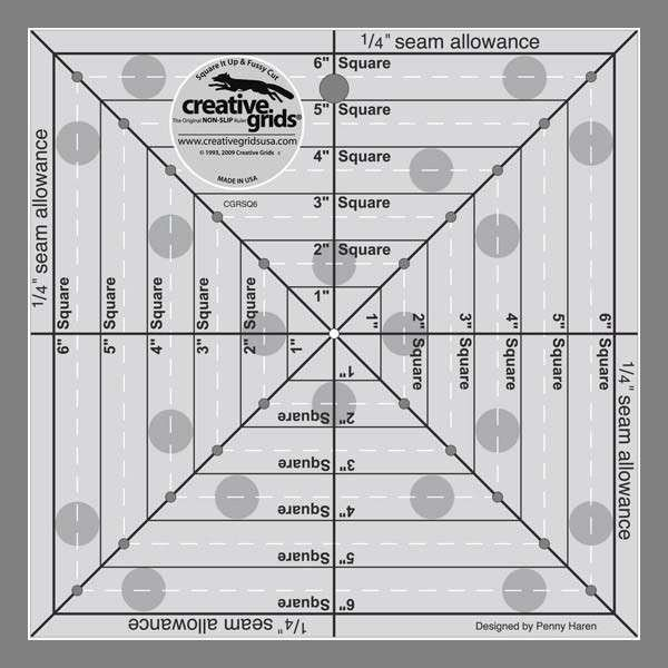 Creative Grids Square It Up & Fussy Cut Ruler