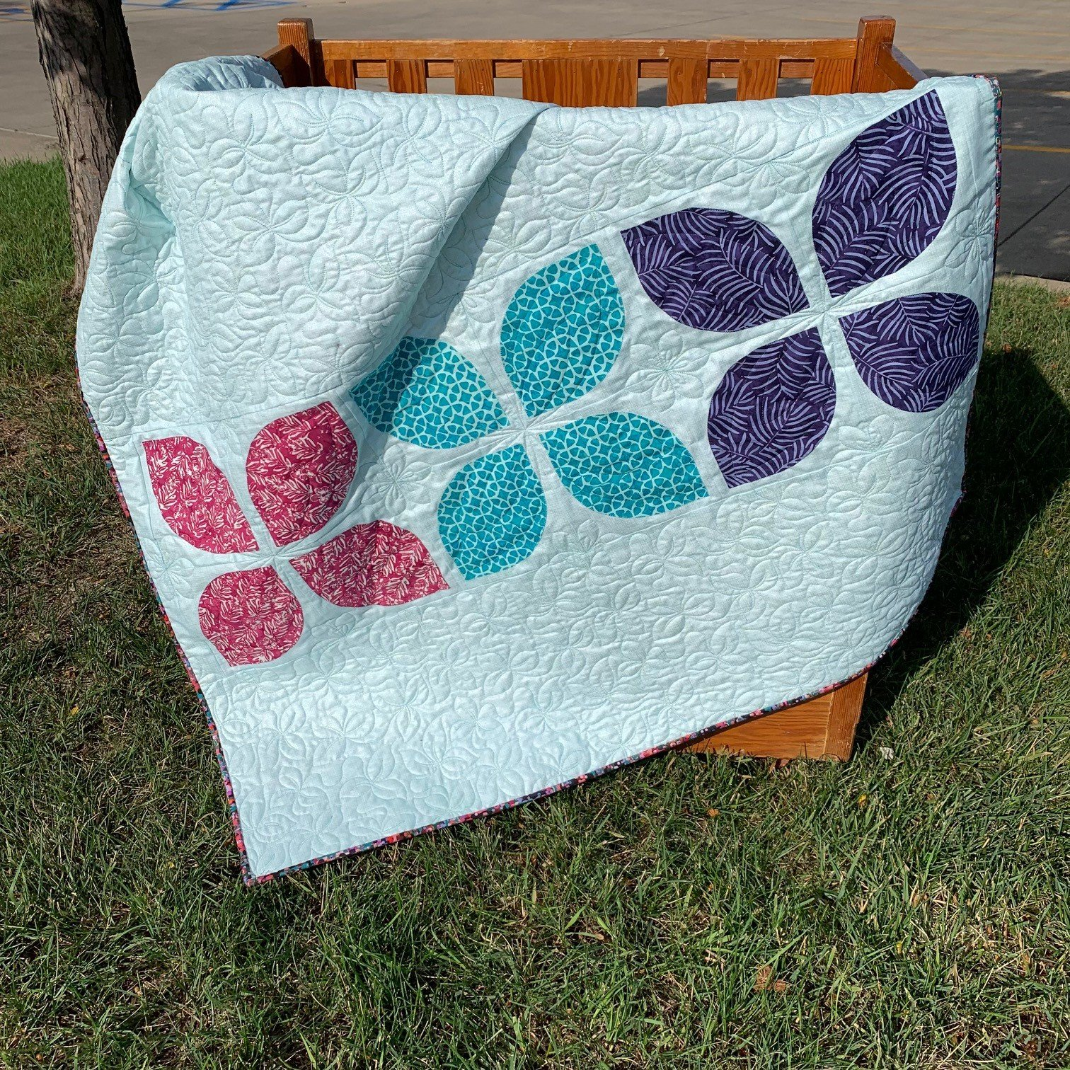 Flowers Baby Quilt Kit