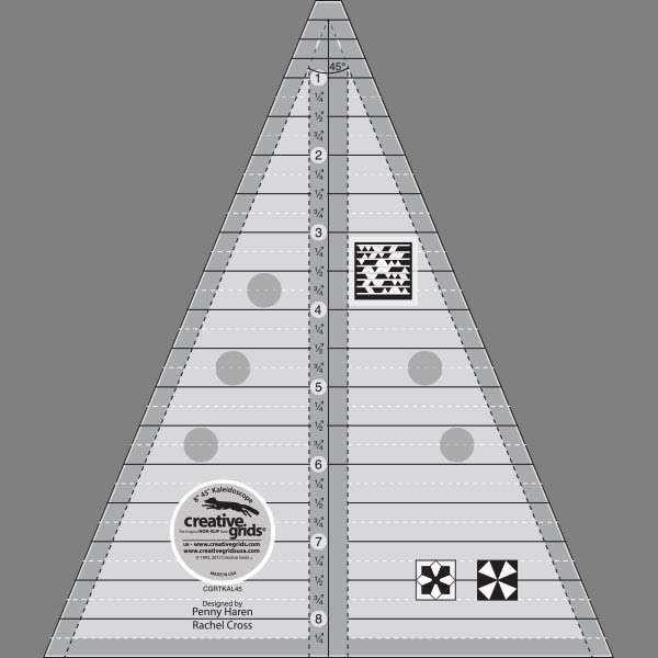 Creative Grids 45? Kaleidoscope and Dresden Plate Ruler