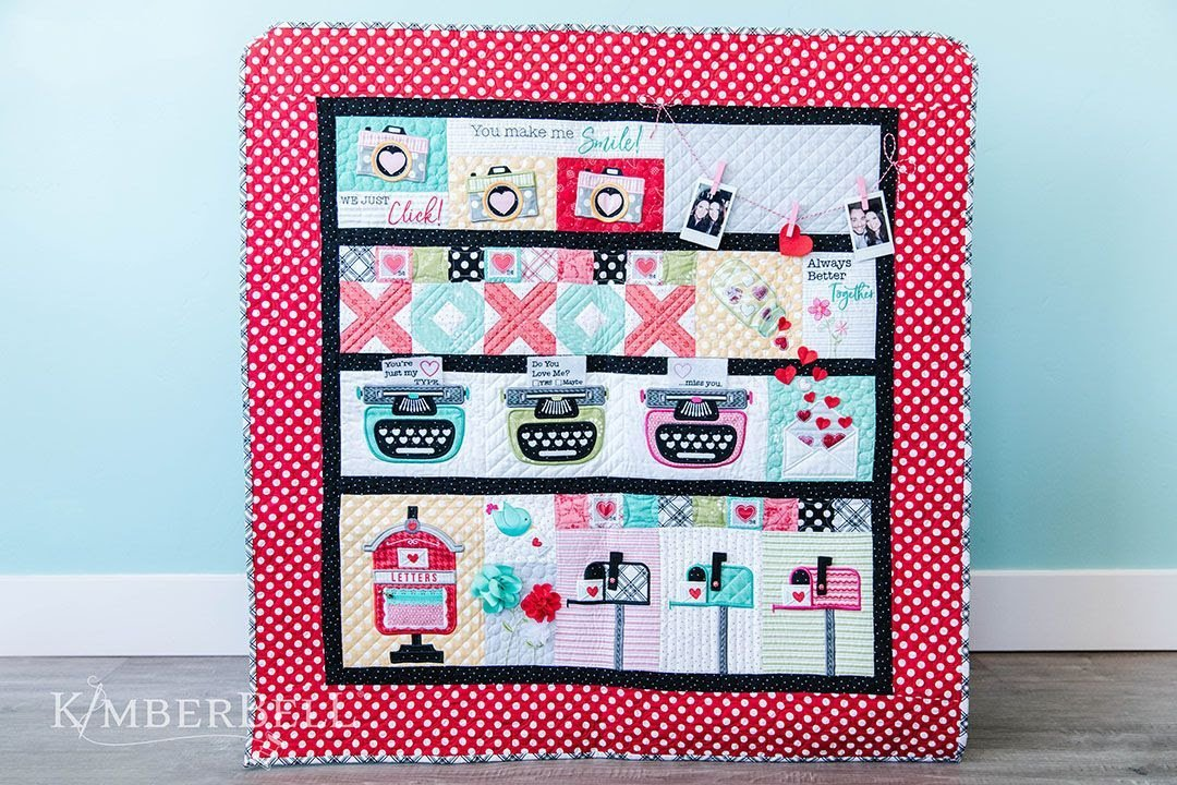 KimberBell Love Notes Block of the Week Kit and Pattern