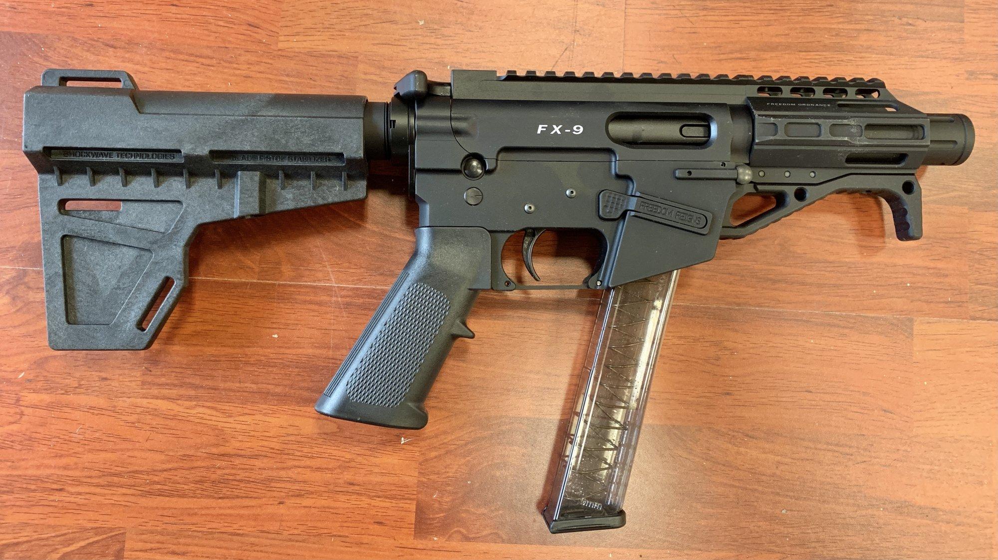 Freedom Ordnance FX-9 Tactical Pistol w/ Brace