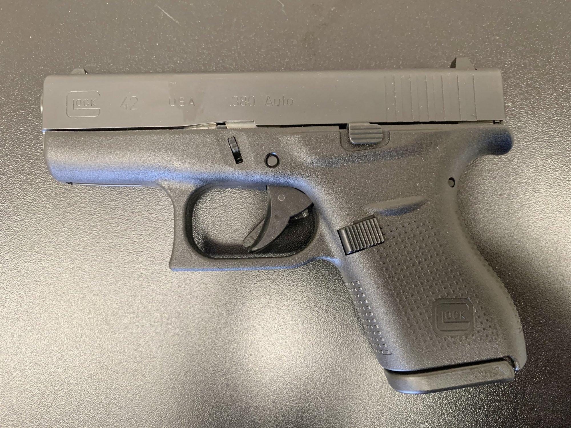 Glock 42 Semi Automatic Pistol - 380