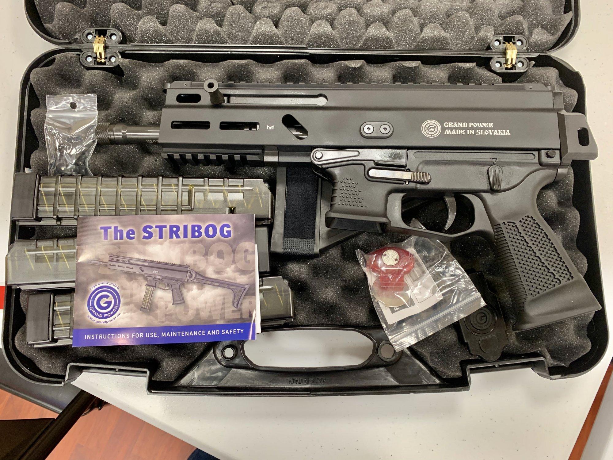 Grand Power Stribog 9mm Semi-Automatic Tactical Pistol