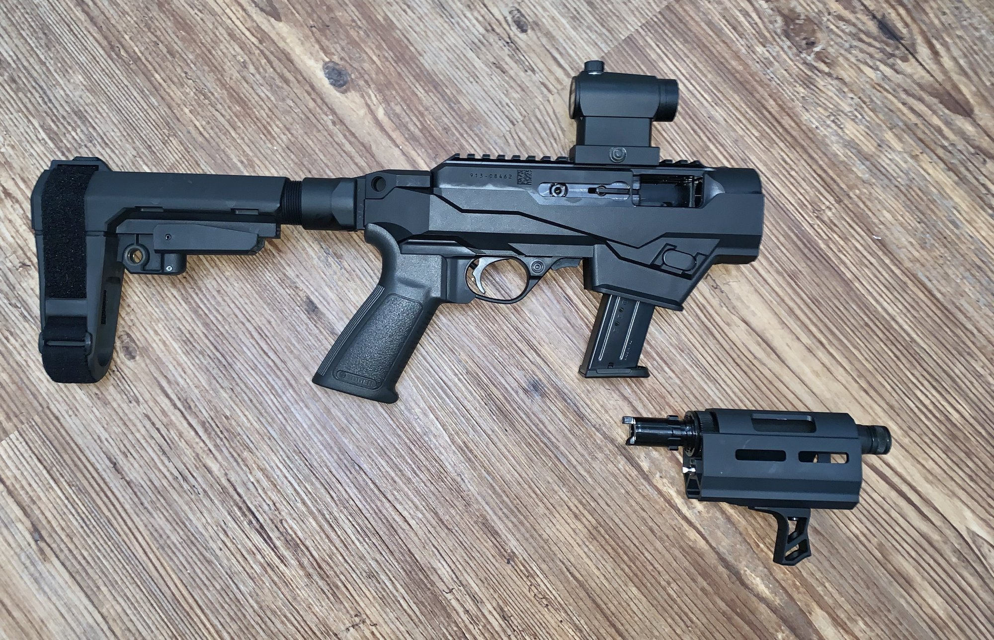 Ruger PC Takedown Charger w/ SB Tactical Brace and Red Dot