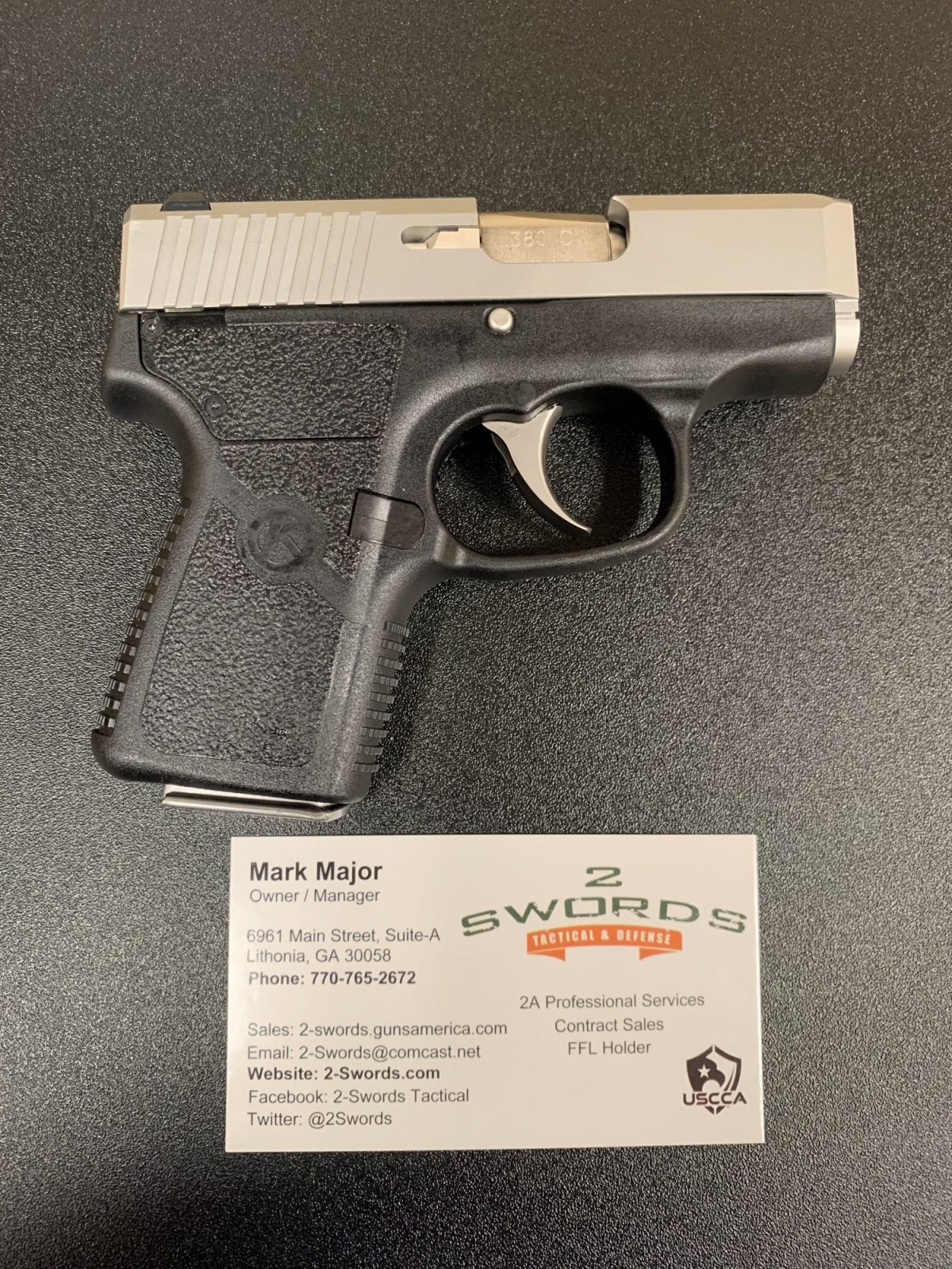 Kahr CW380 Sub Compact Pistol - Stainless slide