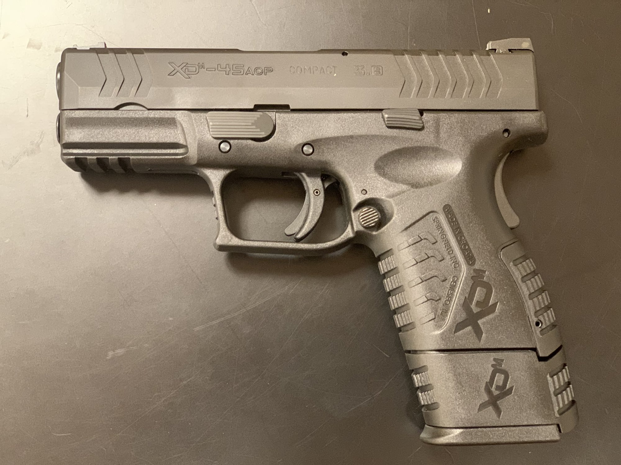 Springfield XDM45acp Semi Automatic Pistol -  Black