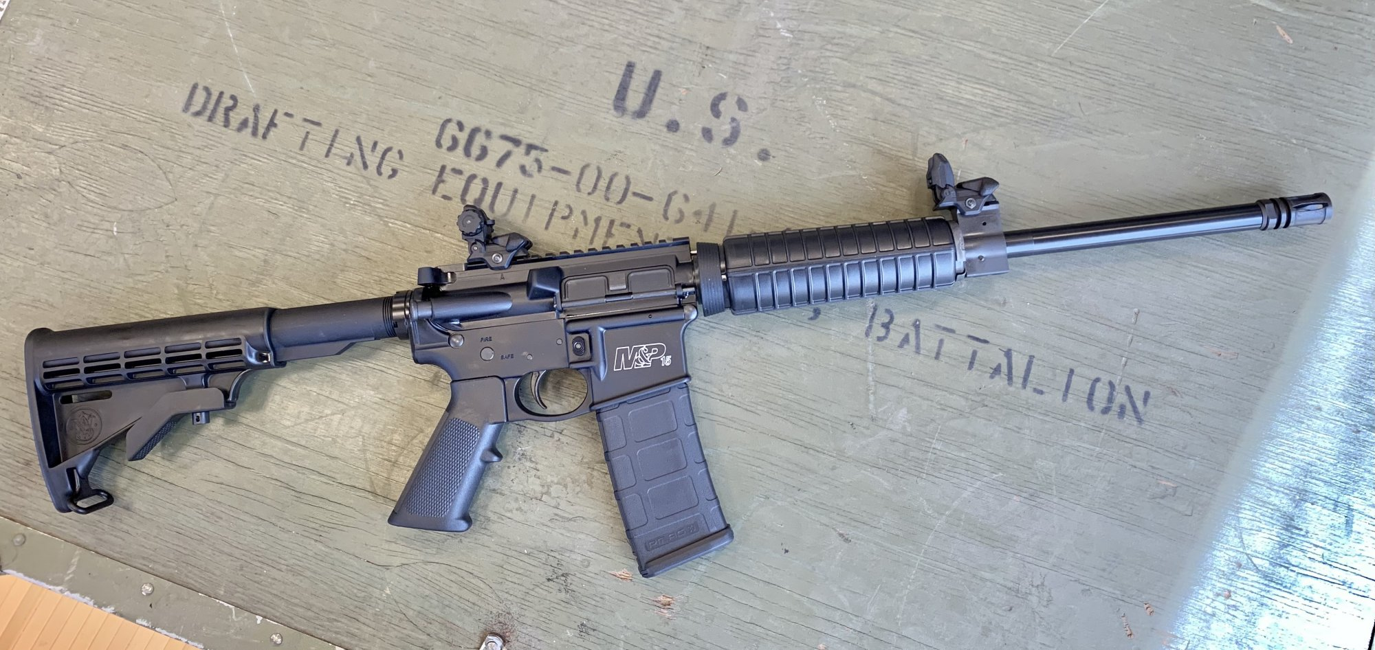 Smith & Wesson M&P-15 Sport II w/ flip-up sights