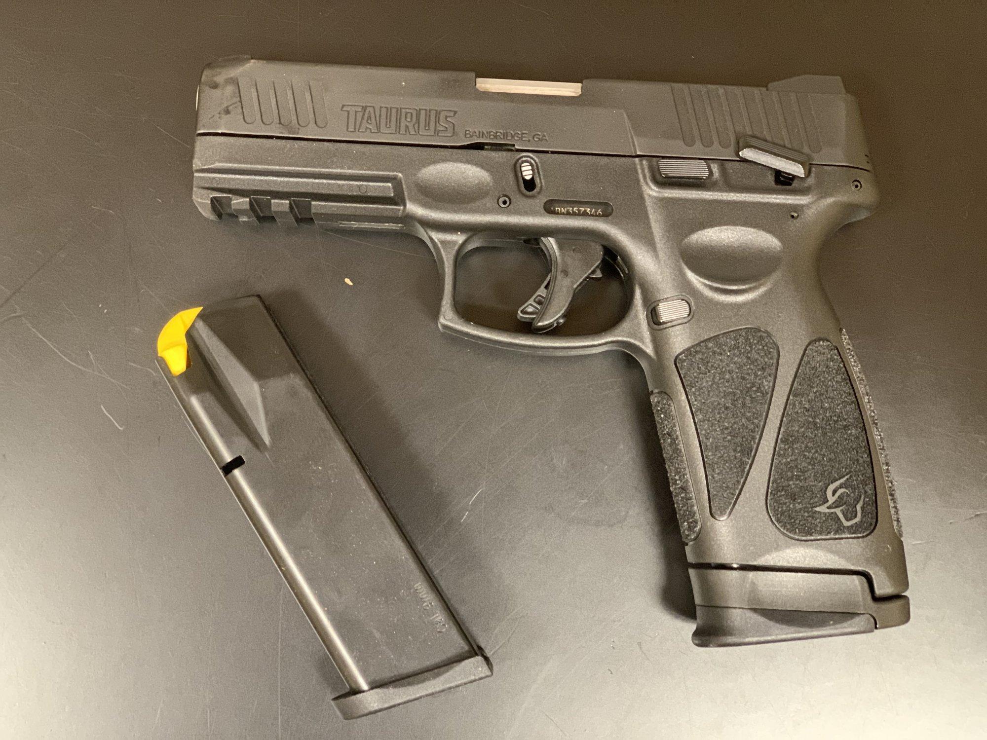 Taurus G3 9mm Semi Automatic Pistol - Black