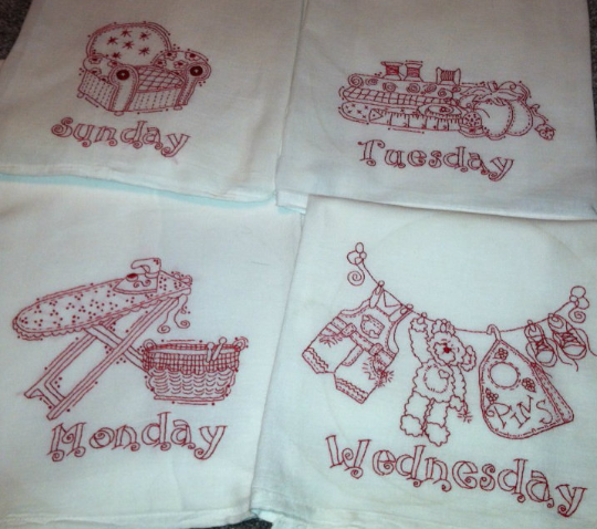 Busy Week 7 days of Dish Towels pattern