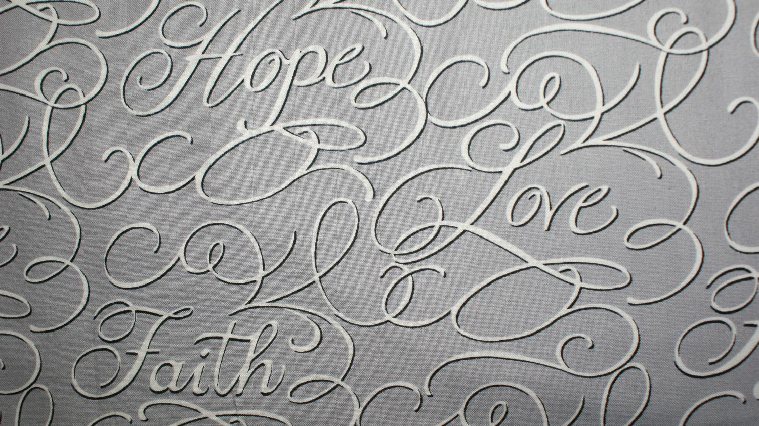 Faith Hope and Love by Windham Fabrics (39940-2)