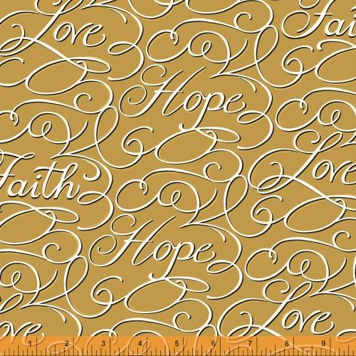 Faith Hope and Love by Windham Fabrics (39940-1)