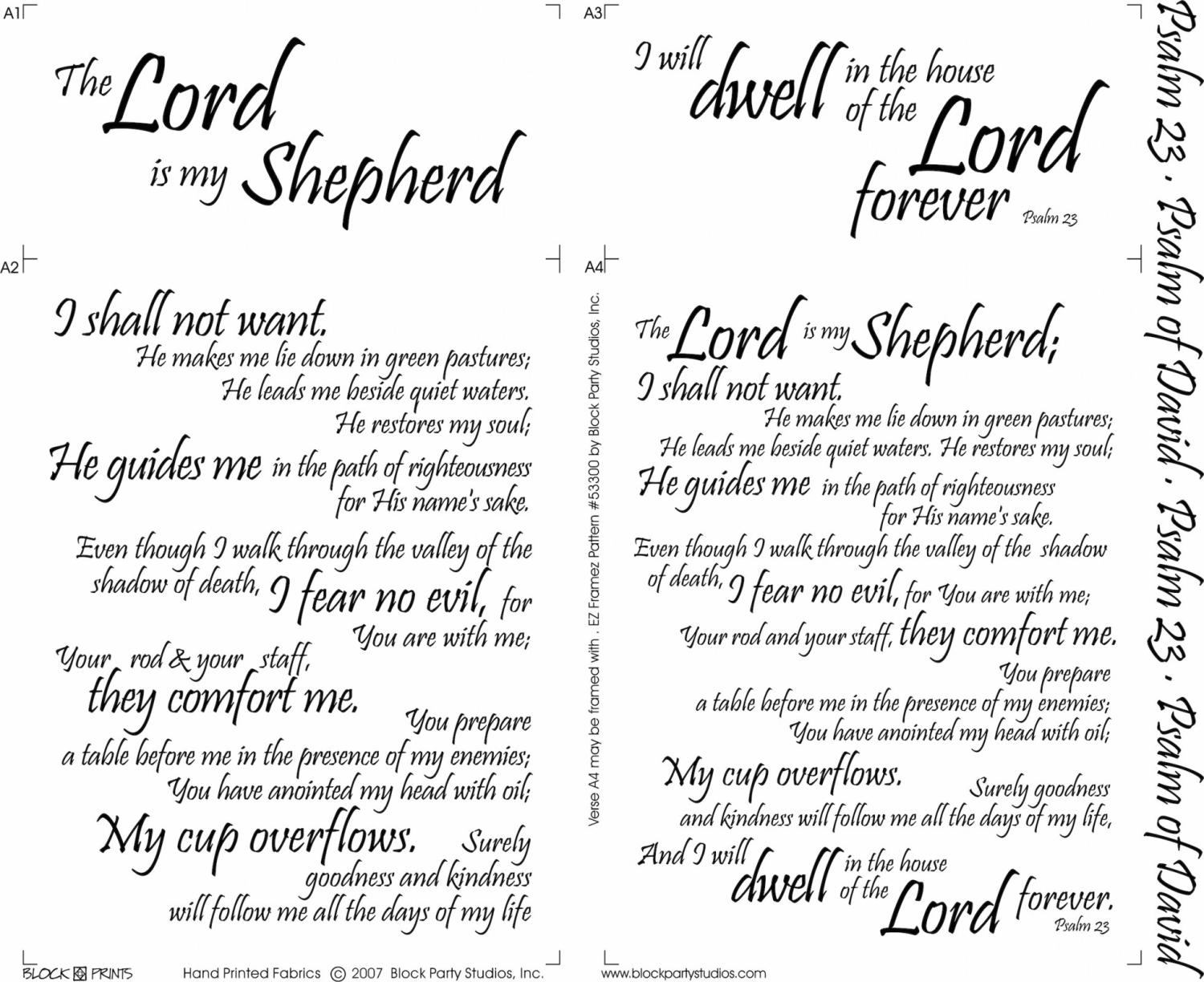 Psalms 23 panel by Block Party Studios (646BW)
