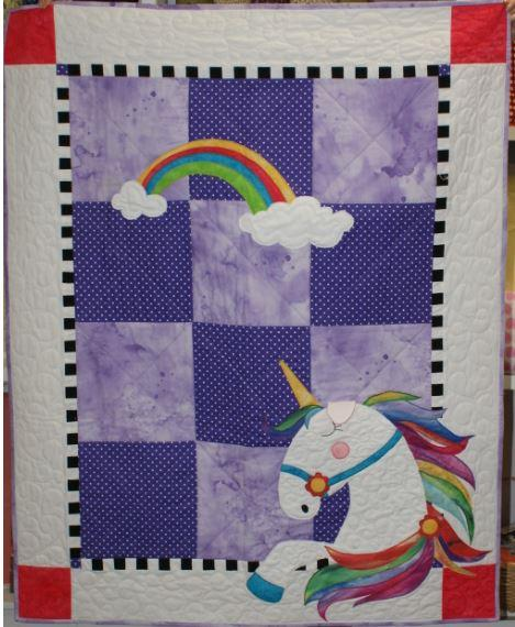 Urbi the Unicorn finished quilt
