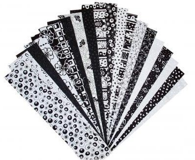 Blank Quilting - Fabri-Strips-2.5in Strips-Black & White - 0000BW