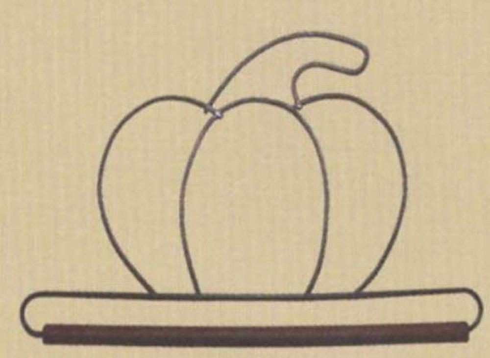 Pumpkin Decorative Craft Hanger-6''-Wooden Dowel - Ackfeld - 86797