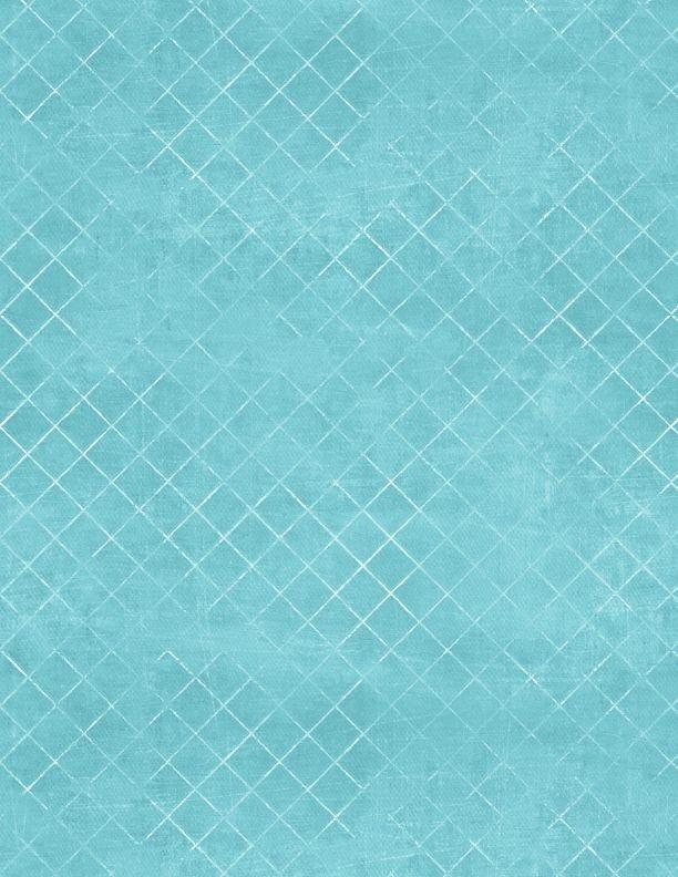 Wilmington - Wide Quilt Backing 108- Essentials-Trellis/Aqua - 7215-471