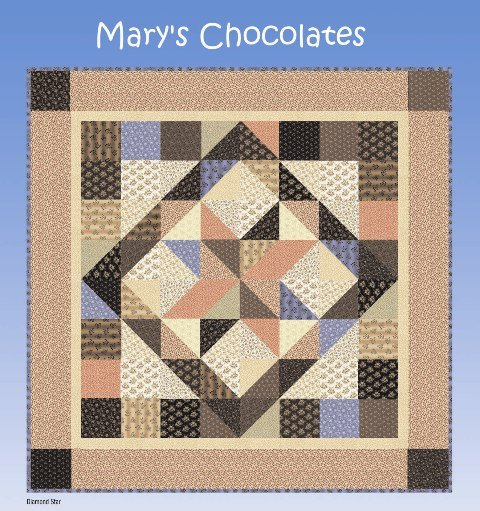 Blank Quilting - Mary's Chocolate-Project Sheet