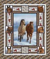horse whisper quilt top
