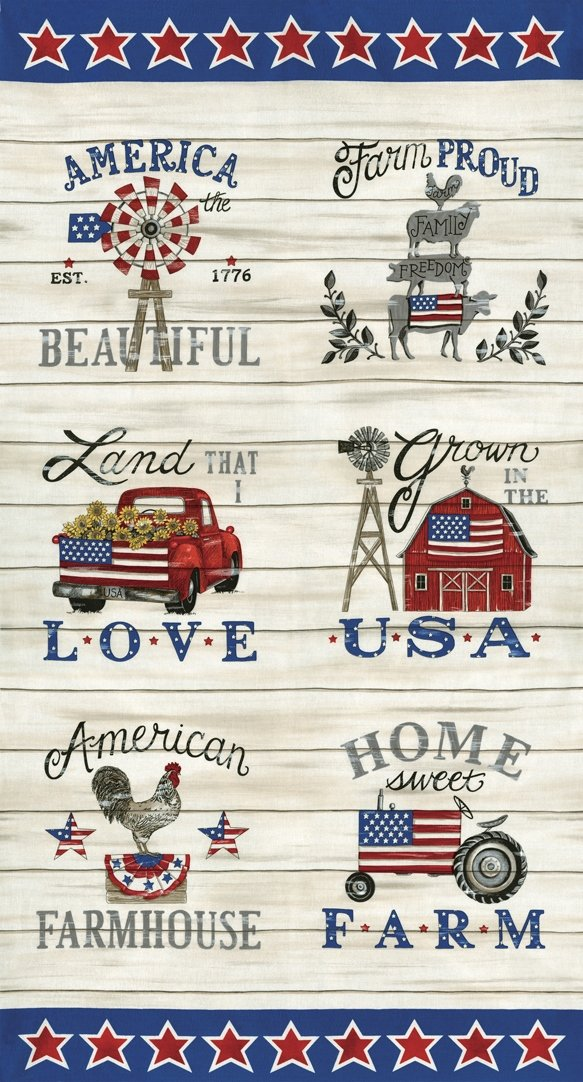 Moda - Land That I Love-Panel/Barnwood White - 19880 11 - H12