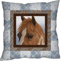 horse whisper pillow top