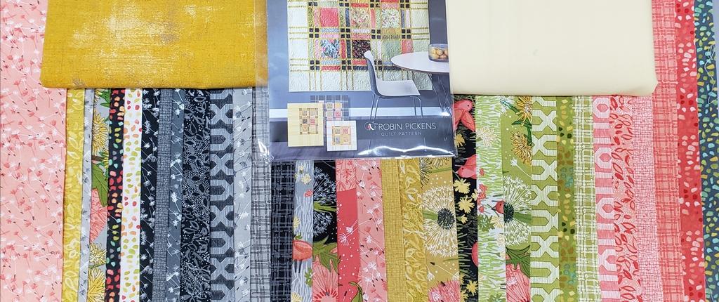 Fringe - Dandi Annie-Moda - Quilt KIT - 69 x 84 (Yellow or Gray)