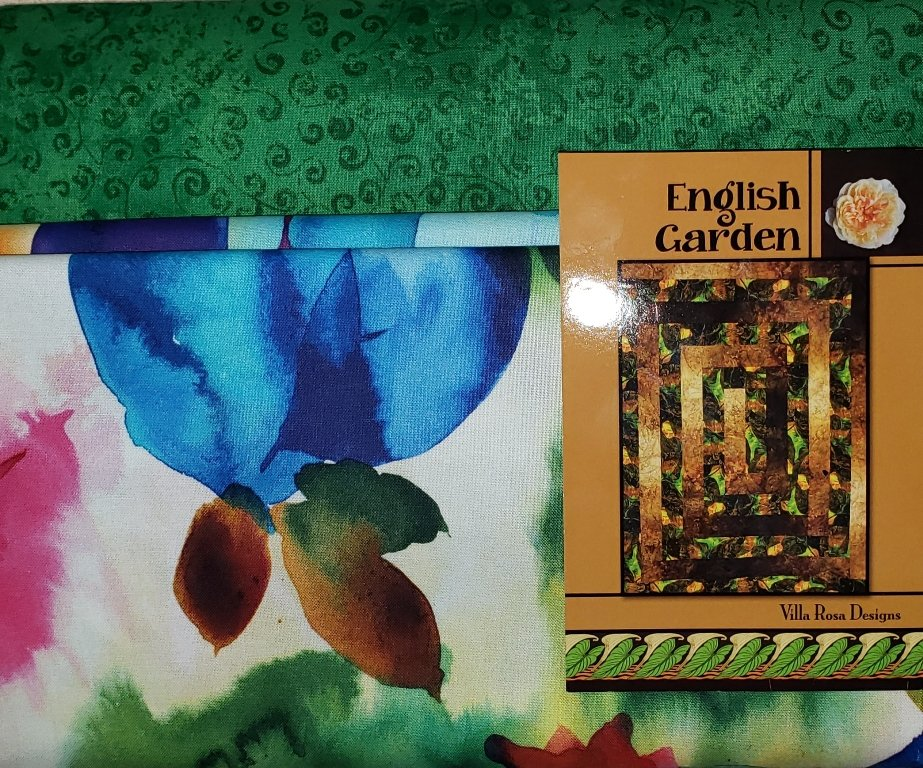 English Garden Quilt KIT/Green - Villa Rosa - 54 x 72